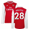 2019-2020 Arsenal Adidas Home Long Sleeve Shirt (Willock 28)