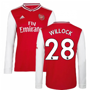 2019-2020 Arsenal Adidas Home Long Sleeve Shirt (Kids) (Willock 28)
