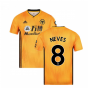 2019-2020 Wolves Home Football Shirt (NEVES 8)