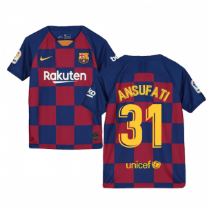 2019-2020 Barcelona Home Nike Shirt (Kids) (Ansu Fati 31)