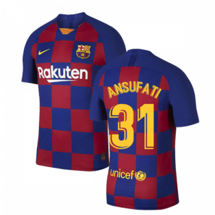 2019-2020 Barcelona Home Vapor Match Nike Shirt (Kids) (Ansu Fati 31)