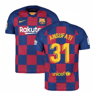2019-2020 Barcelona Home Nike Football Shirt (Ansu Fati 31)
