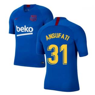 2019-2020 Barcelona Nike Training Shirt (Blue) - Kids (Ansu Fati 31)