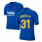 2019-2020 Barcelona Nike Training Shirt (Blue) - Kids (Ansu Fati 31)