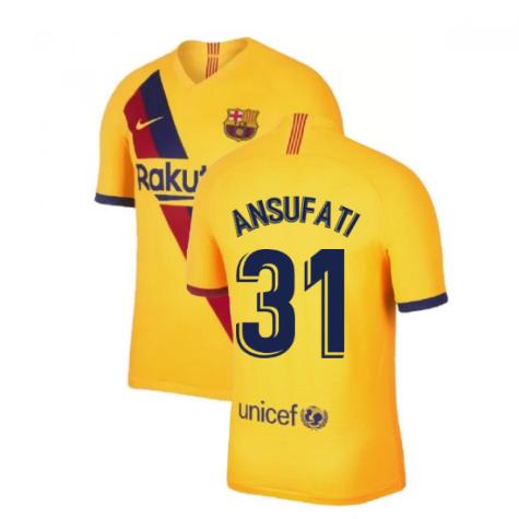 2019-2020 Barcelona Away Nike Shirt (Kids) (Ansu Fati 31)