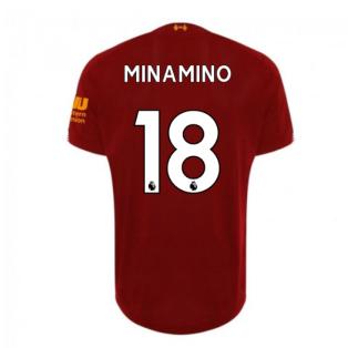 2019-2020 Liverpool Home Football Shirt (Minamino 18) - Kids