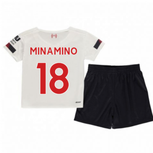 2019-2020 Liverpool Away Little Boys Mini Kit (Minamino 18)