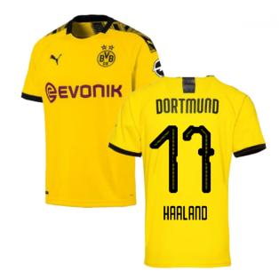 2019-2020 Borussia Dortmund Home Puma Shirt (Kids) (Haaland 17)