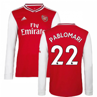 2019-2020 Arsenal Adidas Home Long Sleeve Shirt (Pablo Mari 22)