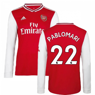 2019-2020 Arsenal Adidas Home Long Sleeve Shirt (Kids) (Pablo Mari 22)