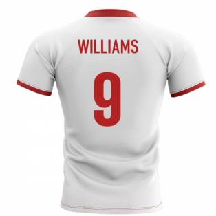 2019-2020 Wales Flag Concept Rugby Shirt (Williams 9)