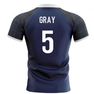 2020-2021 Scotland Home Concept Rugby Shirt (Gray 5)