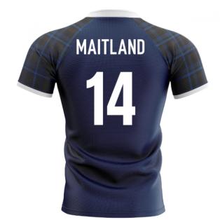 2020-2021 Scotland Home Concept Rugby Shirt (Maitland 14)