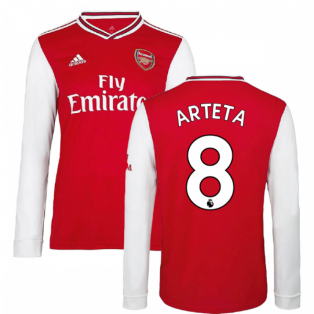 2019-2020 Arsenal Adidas Home Long Sleeve Shirt (Arteta 8)