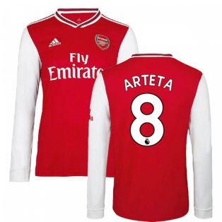 2019-2020 Arsenal Adidas Home Long Sleeve Shirt (Kids) (Arteta 8)