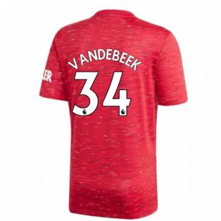 2020-2021 Man Utd Adidas Home Football Shirt (VAN DE BEEK 34)