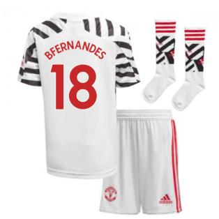 2020-2021 Man Utd Adidas Third Little Boys Mini Kit (B FERNANDES 18)