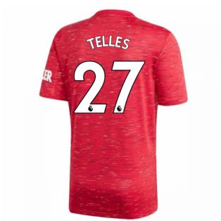 2020-2021 Man Utd Adidas Home Football Shirt (Kids) (TELLES 27)