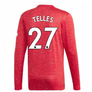 2020-2021 Man Utd Adidas Home Long Sleeve Shirt (TELLES 27)