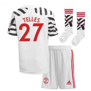 2020-2021 Man Utd Adidas Third Little Boys Mini Kit (TELLES 27)