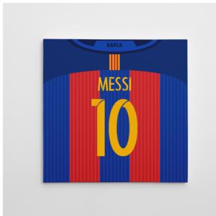 2016-2017 Barcelona Canvas Print (Messi 10)