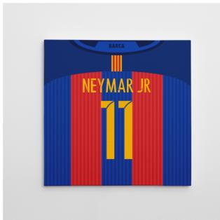2016-2017 Barcelona Canvas Print (Neymar JR 11)