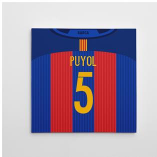 2016-2017 Barcelona Canvas Print (Puyol 5)