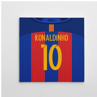2016-2017 Barcelona Canvas Print (Ronaldinho 10)