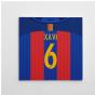 2016-2017 Barcelona Canvas Print (Xavi 6)