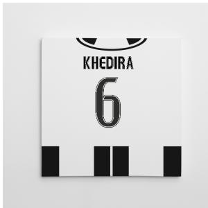 2016-2017 Juventus Canvas Print (Khedira 6)