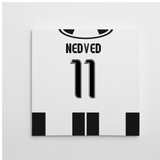 2016-2017 Juventus Canvas Print (Nedved 11)