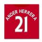 2016-2017 Man United Canvas Print (Ander Herrera 21)