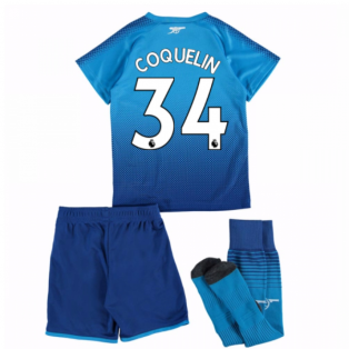 2017-18 Arsenal Away Mini Kit (Coquelin 34)