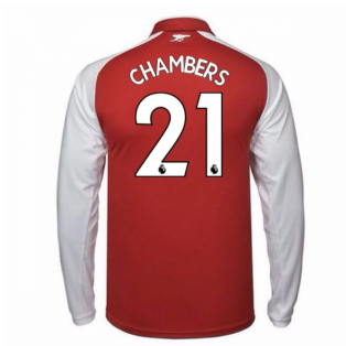 2017-18 Arsenal Home Long Sleeve Shirt (Chambers 21)