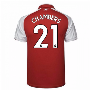 2017-18 Arsenal Home Shirt (Chambers 21)