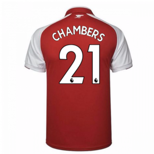 2017-18 Arsenal Home Shirt - Kids (Chambers 21)