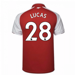 2017-18 Arsenal Home Shirt - Kids (Lucas 28)