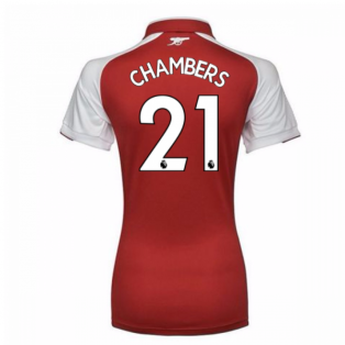 2017-18 Arsenal Womens Home Shirt (Chambers 21)