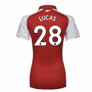 2017-18 Arsenal Womens Home Shirt (Lucas 28)