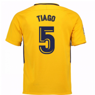 2017-18 Atletico Madrid Away Shirt (Tiago 5) - Kids
