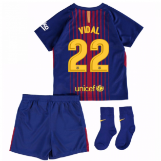2017-18 Barcelona Home Baby Kit (Vidal 22)
