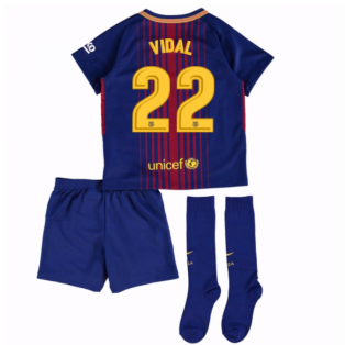 2017-18 Barcelona Home Mini Kit (Vidal 22)