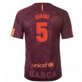 2017-18 Barcelona Nike Third Shirt (Sergio 5) - Kids