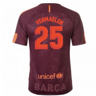 2017-18 Barcelona Nike Third Shirt (Vermaelen 25) - Kids