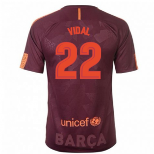 2017-18 Barcelona Nike Third Shirt (Vidal 22) - Kids