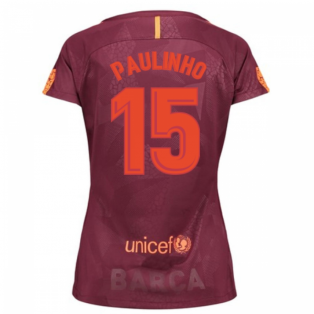 2017-18 Barcelona Third Women Shirt (Paulinho 15)