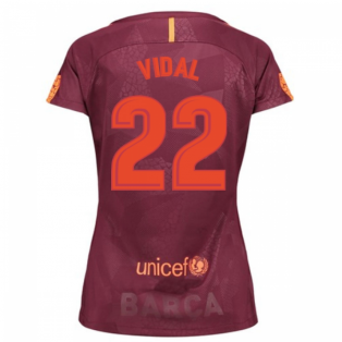 2017-18 Barcelona Third Women Shirt (Vidal 22)