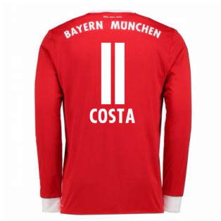 2017-18 Bayern Munich Home Long Sleeve Shirt (Kids) (Costa 11)