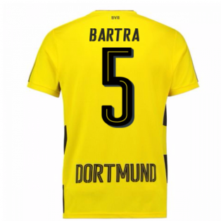 2017-18 Borussia Dortmund Home Short Sleeve Shirt (Bartra 5)