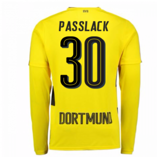 2017-18 Borussia Dortmund Long Sleeve Home Shirt (Passlack 30)